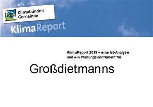 KlimaReport 2019 Grossdietmanns