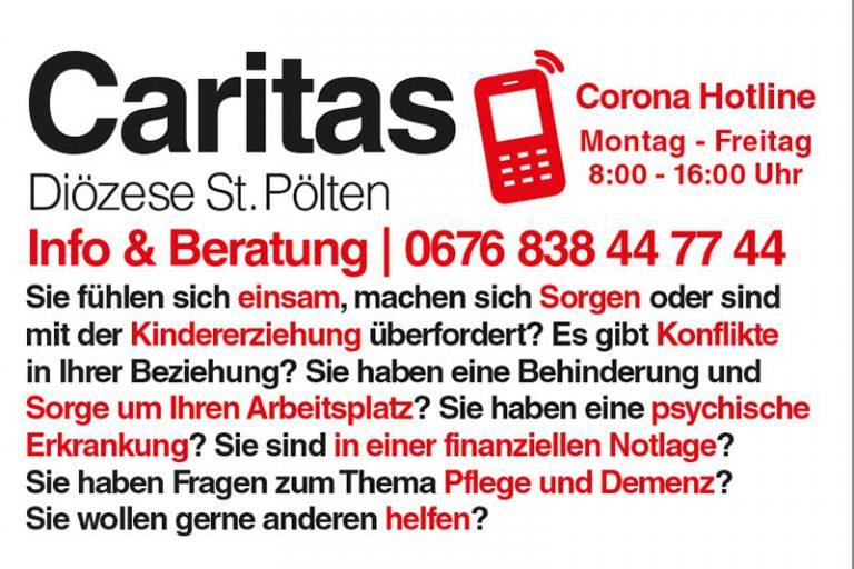 Caritas Image - Corona Hotline