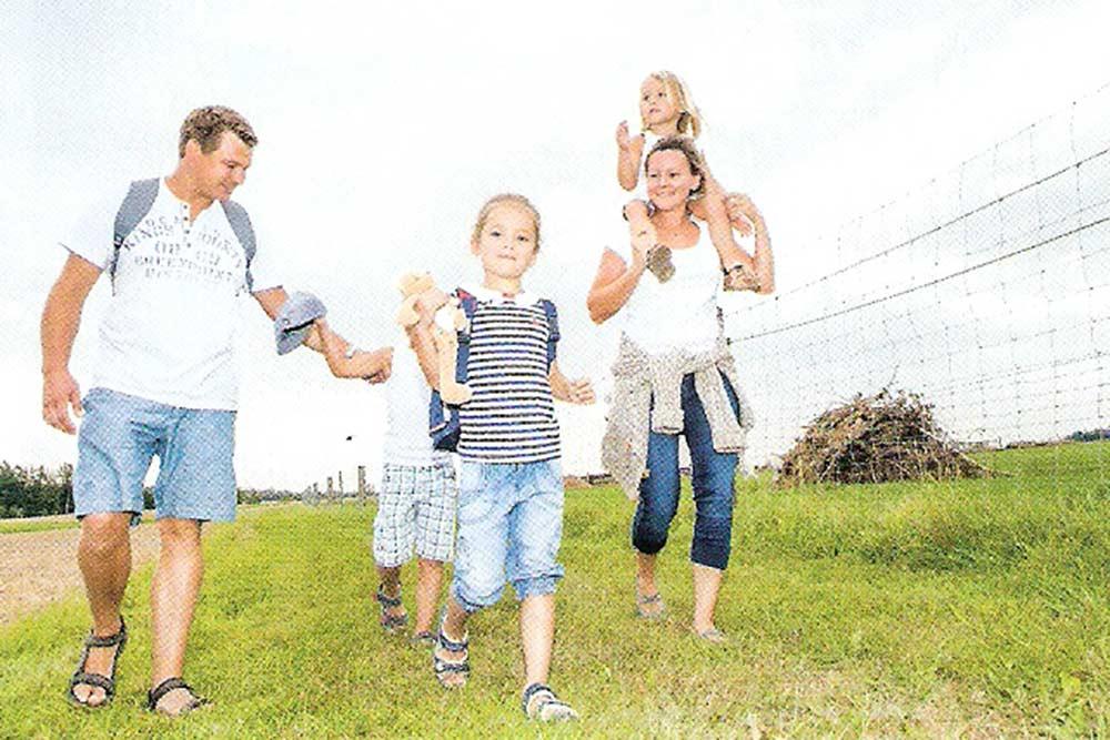 Familienfoto Wanderkarte